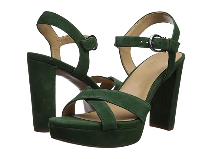 Retro Vintage Style Wide Shoes Naturalizer Mia Forest Green Suede Womens Shoes $79.99 AT vintagedancer.com