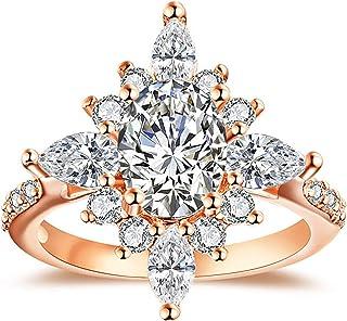 Alex's Wish List Starburst Sunburst Ring | Womens Vintage Style Statement Cocktail Ring | Unique Design Rose Gold Plated C...