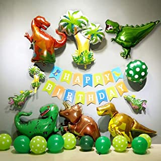風船 恐竜 バルーン 誕生日 飾り付け バルーン HAPPY BIRTHDAY ハッピーバースデー 風船 2色 バルーン恐竜 ins 豪華セットby Kungfu Mall
