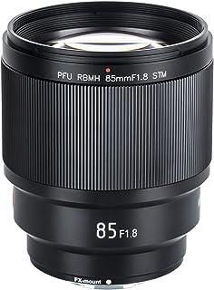 VILTROX 85MM F1.8 STM AF 中望遠単焦点レンズ 大口径 大絞り 富士フイルム Fujifilm Xマウント ミラーレス一眼カメラ用 ポートレート撮影に最適 手ぶれ補正 X20 XF X-T3 X-T2 X-T30 X-T20 X-T10 X-T100 X-PRO2 X-E3 X-A20 X -A5