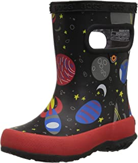 Bogs Kids' Skipper Waterproof Rubber Rain Boot for Boys and Girls