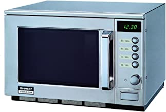 Sharp R-25AM, 3150 W, 230 V, 50 Hz, 16 A, Acero inoxidable, 510 x 470 x 335 mm, 33000 g, 330 x 330 x 180 mm - Microondas