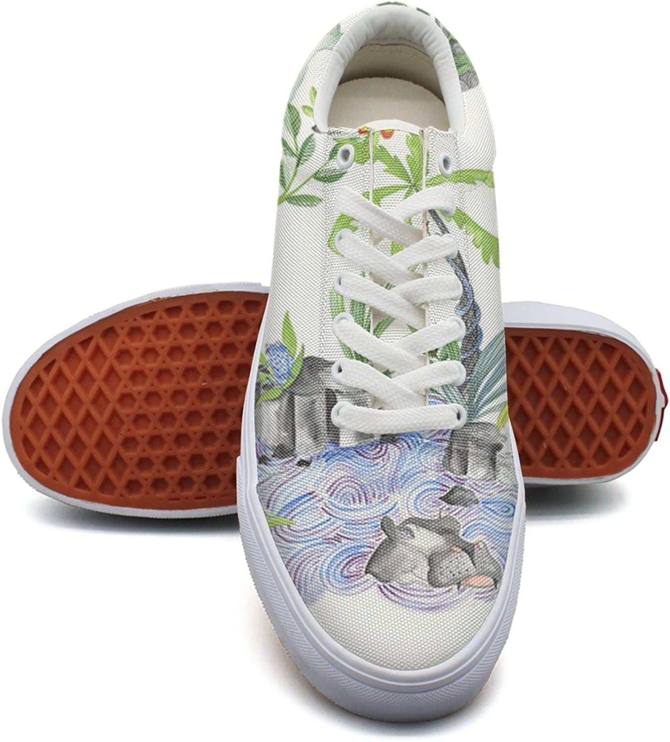 Animal Tiger Bear Bird And Tree Women's Casual shoes Canvas Sports New Vegan