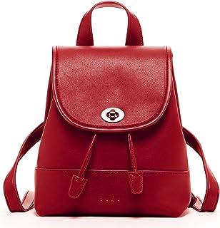 حقيبة ظهر جلدية للنساء من SUSU بتصميم نيكول حقائب ظهر صغيرة تناسب آيباد ميني 4 ألوان