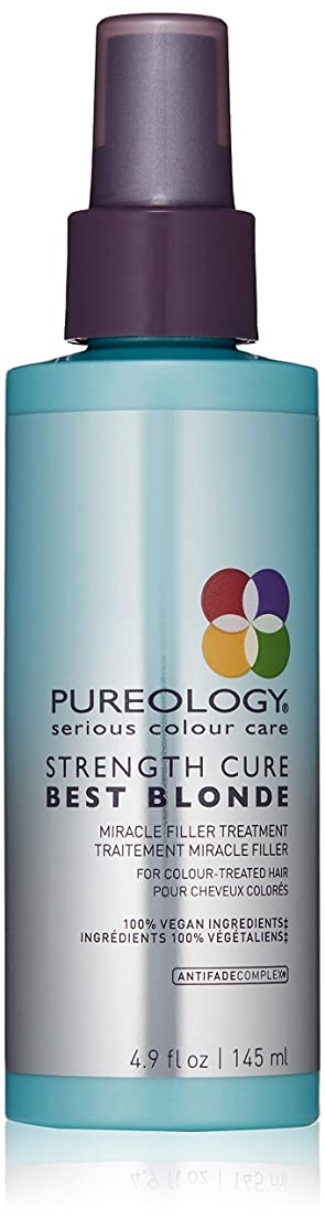 作者競うアーカイブピュアロジー Strength Cure Best Blonde Miracle Filler Treatment (For Colour-Treated Hair) 145ml/4.9oz並行輸入品