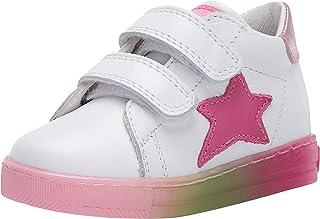 Falcotto Sasha VL-Sneakers à Semelle Multicouleurs-Blanc-Fuchsia
