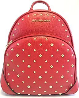 a3291318f0 Michael Kors Abbey Medium Studded Leather Backpack For Work School Office  Travel