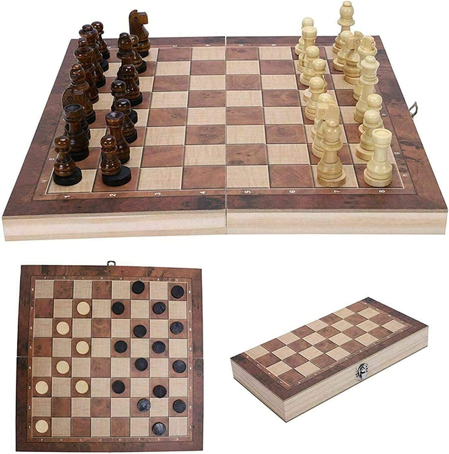 MTCWD Wooden Save money Chess Set Magnetic Foldable Travel Magn Board Popularity