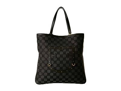 Furla Fortezza Large Tote (Onyx) Handbags