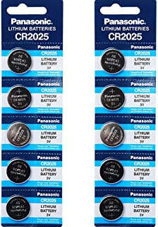 Panasonic CR2025 3V Lithium Battery 2PACK X (5PCS) =10