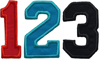 Varsity Number Iron On Patch - Choose Your Number, Color And Size - Iron On Or Sew On (1 Patch)