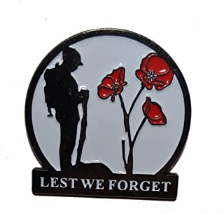Lone Soldier Poppy Flower Remembrance Day Lapel Pin