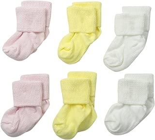 Unisex-Baby Newborn Turn Cuff Bootie 6 Pair Pack