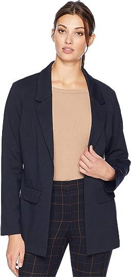 Boyfriend Blazer in Marled Ponte Knit