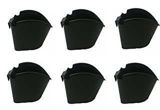 VGreen Vertical Garden Big Grill Hanging Planter (Set of 6) 6 Inch (Black)