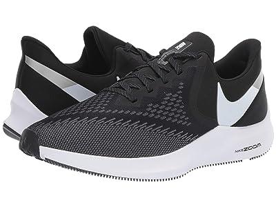 Nike Air Zoom Winflo 6 (Black/White/Dark Grey/Metallic Platinum) Men