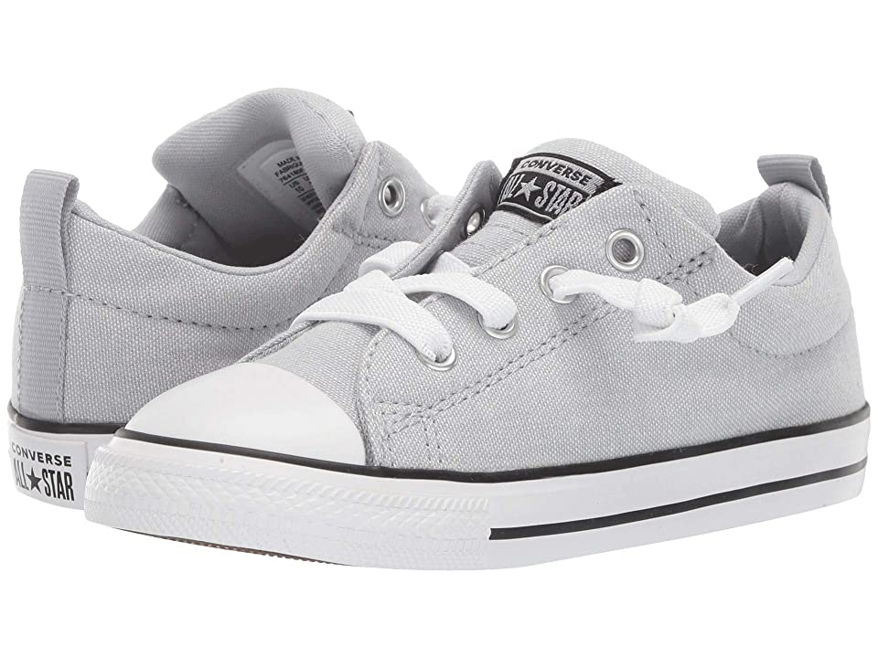 Converse Kids Chuck Taylor All Star Street Urchin Slip (Infant/Toddler) (Wolf Grey/Black/White) Boys Shoes