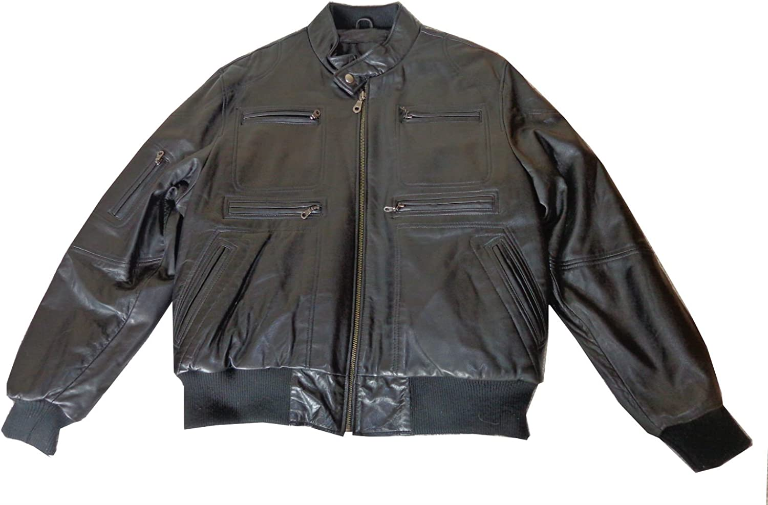 United Face Mens Heavy Soft Butter Leather Jacket Black