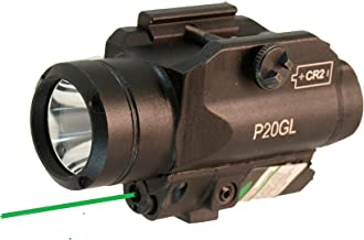 HiLight 500 Lumen Rail-Mounted Tactical Pistol Flashlight and Laser Sight Combo