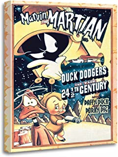 TORASS Canvas Wall Art Print Bugs Marvin The Martian Daffy Duck and Elmer Bunny Artwork for Home Decor 16