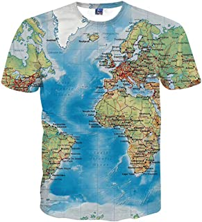 Sykooria Unisex 3D Novelty Tshirts Men Graphic Funny Tees Printed Crewneck Short Sleeve Summer Top T-Shirts