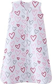 Halo 100% Cotton Sleepsack Wearable Blanket, Modern Pink Hearts, Extra-Large
