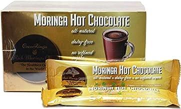 COCORINGA Moringa Hot Chocolate Cacao First Natural Keto Instant Non-dairy Hot Cocoa( 1 Box large)