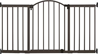 """Summer Metal Expansion 6-Foot-Wide Extra Tall Walk-Thru Baby Gate, Bronze Finish – 36"""" Tall, Fits Openings of 44"""" to 72"""" W..."""