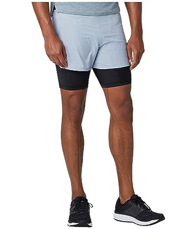 New Balance Q Speed 5 2-in-1 Shorts (Light Slate) Men