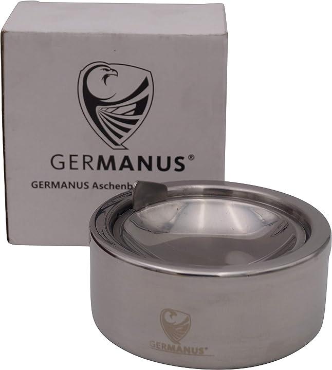 Posacenere in acciaio inossidabile, portacenere a vento germanus 4260348727434