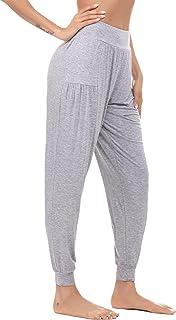 comprar comparacion Akalnny Pantalones de chándal de Mujer Pantalones de Jogging elásticos Sueltos Pantalones de Mujer Transpirables para Entr...