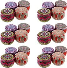 HEALLILY 24 Pcs Candle Making Tins Empty Metal Candle Tin Jar Container Candy Case for DIY Candle Starters
