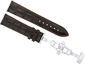 22MM LEATHER BAND STRAP FOR BAUME MERCIER CLASSIMA DEPLOYMENT CLASP D/BROWN OS