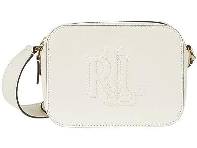 LAUREN Ralph Lauren Trapunto Logo Classic Pebble Hayes 20 Crossbody Medium (Vanilla) Handbags