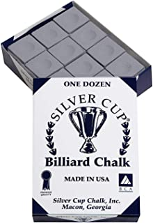 Bankers Gray Billiard Chalk Box of 12 USA
