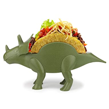 Funwares TriceraTaco Holder Ultimate Dinosaur Taco Stand, Holds 2, Green