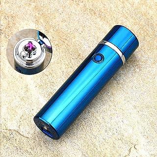 Guomvp Encendedor, Encendedor eléctrico de Arco pulsado Doble, Encendedor a Prueba de Viento USB