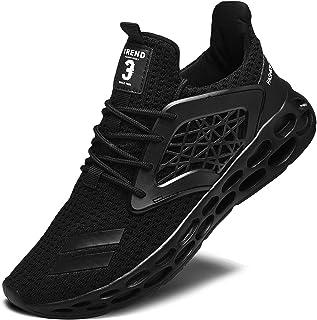 YIKA Men's Running Shoes, Lightweigh Walking Sneakers Workout Sport Athletic Shoes for Training Tennis Jogging Footwear