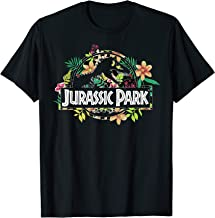 Jurassic Park Floral Tropical Fossil Logo Graphic T-Shirt