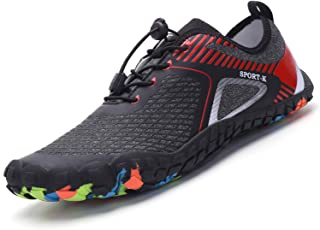 DAIFANNUO Mens Barefoot Water Shoes Quick-Dry Sports Aqua Shoes for Beach Yoga Running Surfing Boating Jogging
