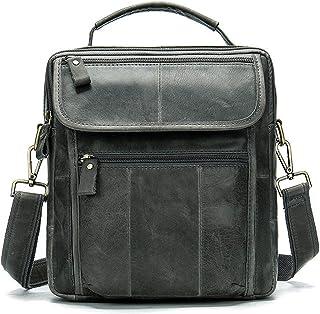 KSFBHC Bolsas de Cuero Crossbody for Hombres Messenger Bag Hombres Diseñador de Cuero Bolsos de Hombro for Hombre Bolso Ma...