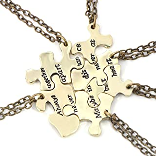 FJ Always Together Never Apart Puzzle Best Friends BFF Sister Necklace for 6