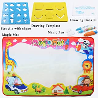 Magic Water Drawing Mat, Doodle Mat with 2 Pens Gift for Toddler Painting Board (Large,33.5x22.5in)
