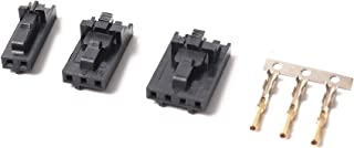 Zamtac 2.54mm 1x2/1x3/1x4 Connector & Positive Latch Housing Kit- 10 Pack for Mini-Rambo/Einsy Rambo Boards and Prusa i3 mk2s/mk3 - (Size: 4pins)