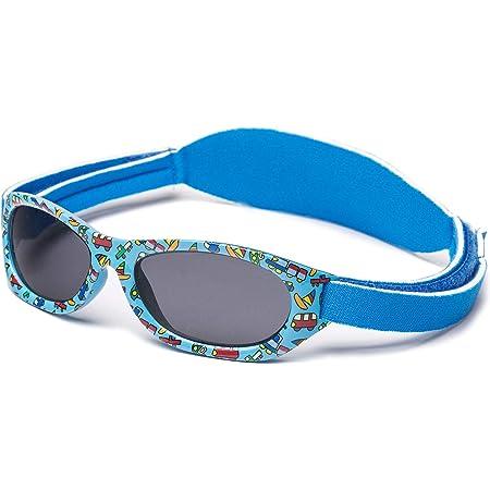 Kiddus Gafas de sol Baby para bebés NIÑOS chicos, desde 0 meses a 2 años, 100% protección UV, MUY CÓMODAS gracias a la SUAVE banda ajustable, el regalo ideal para recién nacidos.