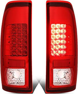 DNA Motoring TL-F25008-LED-CH-RD LED Tail Light Assembly (Driver & Passenger Side)
