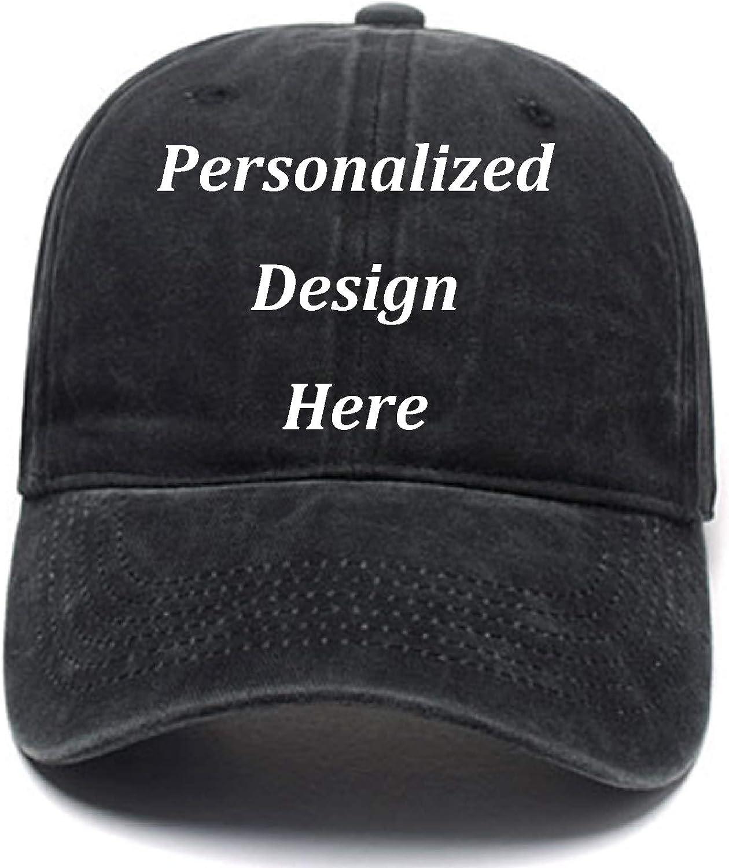 Funny Men Women Baseball Caps Add Logo/Text/Image Custom Retro Wash Denim Cowboy Hat Adjustable Sports Personalized Hats