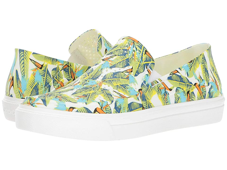 Crocs CitiLane Roka Graphic Slip-On (Tropical/Volt Green) Women