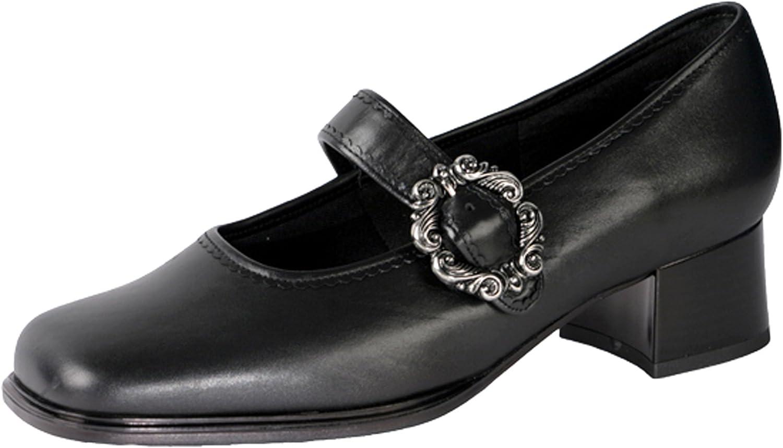 Fischerkleidung GmbH Damenschuhe mit Lasche 55030 eckige Form, schwarz