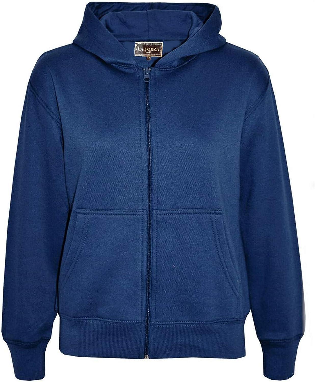 Kids Girls Boys Plain Tracksuit Hooded Top Bottom Back to School Jog Suit 5-13 Y